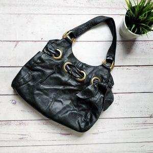 KOOBA Large Leather Shoulder Bag Purse